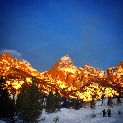 Eric Seymour and Tanner Flanagan Approaching the Tetons.
