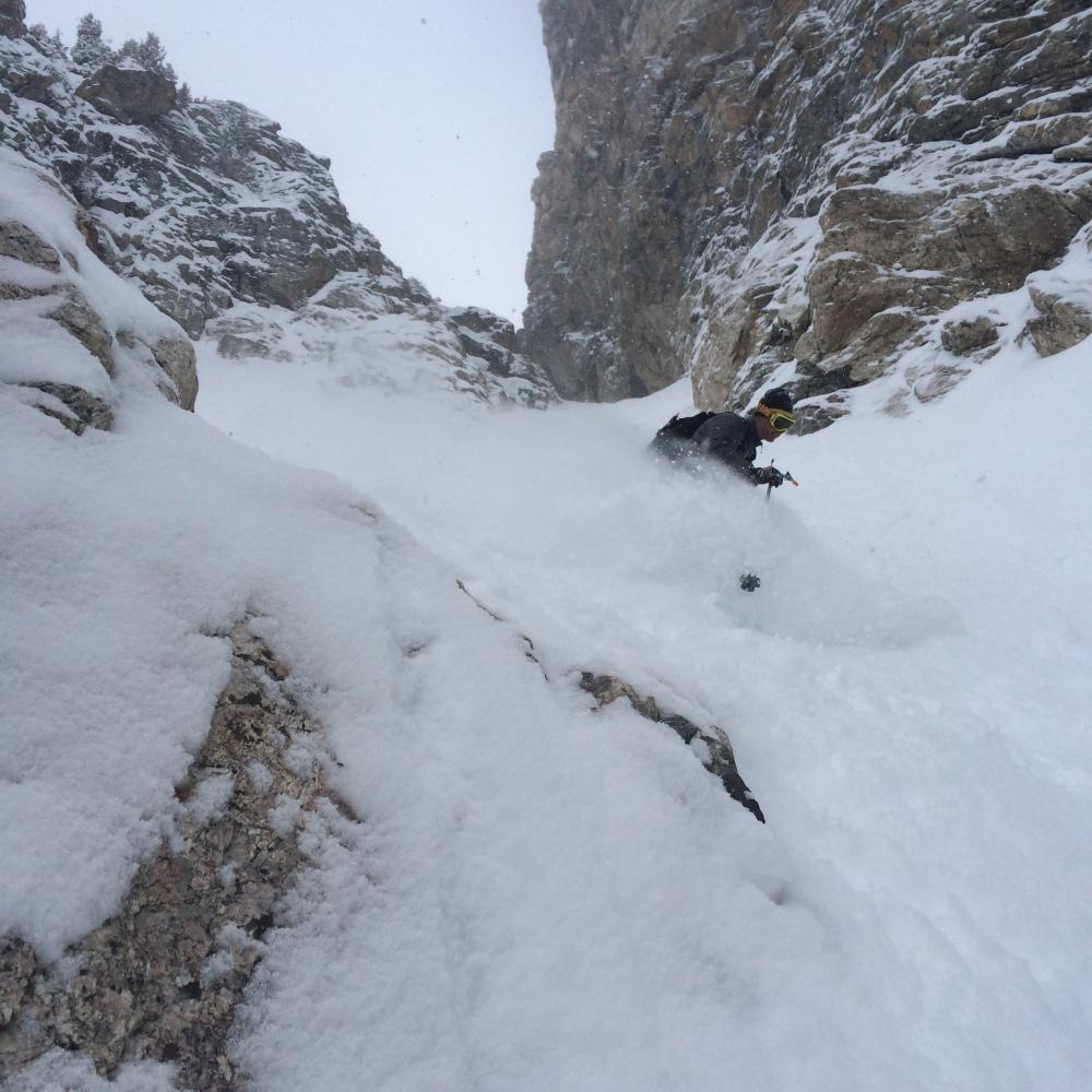 Eric Seymour Enjoying the Fresh Snow the Sliver.