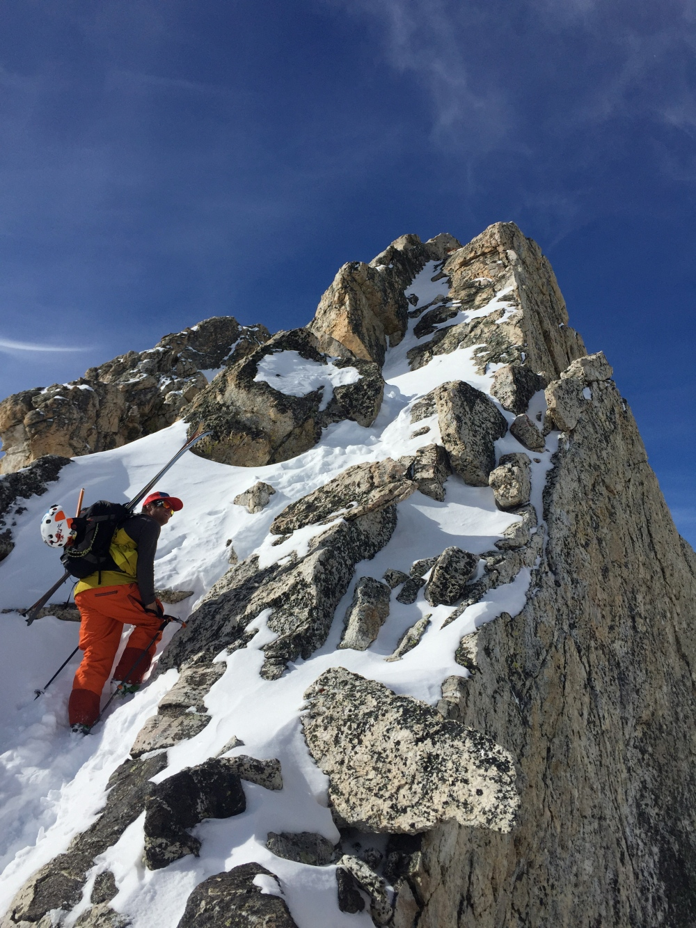 Tanner Flanagan Climbing to the Summit of Disappointment Peak