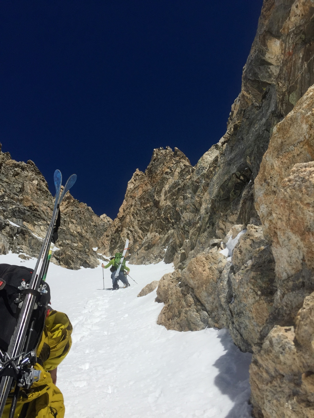 Heading up the Couloir