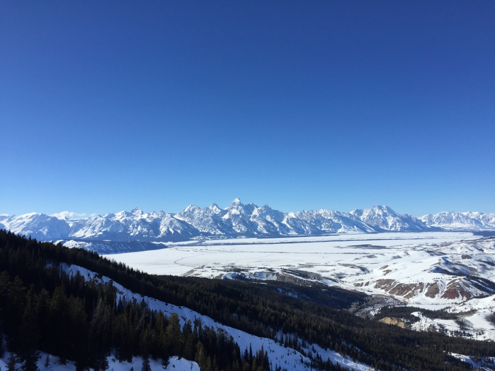 Not a bad view of the Tetons from the Gros Ventre Slide