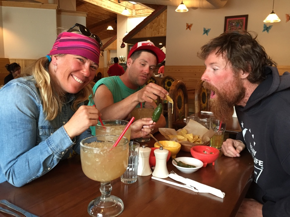 There really isn't anything better than a tasty marg after a 22 mile approach, 2 huge couloirs, and 4 days out in the backcountry.