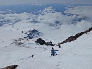 Jess Climbing Rainer