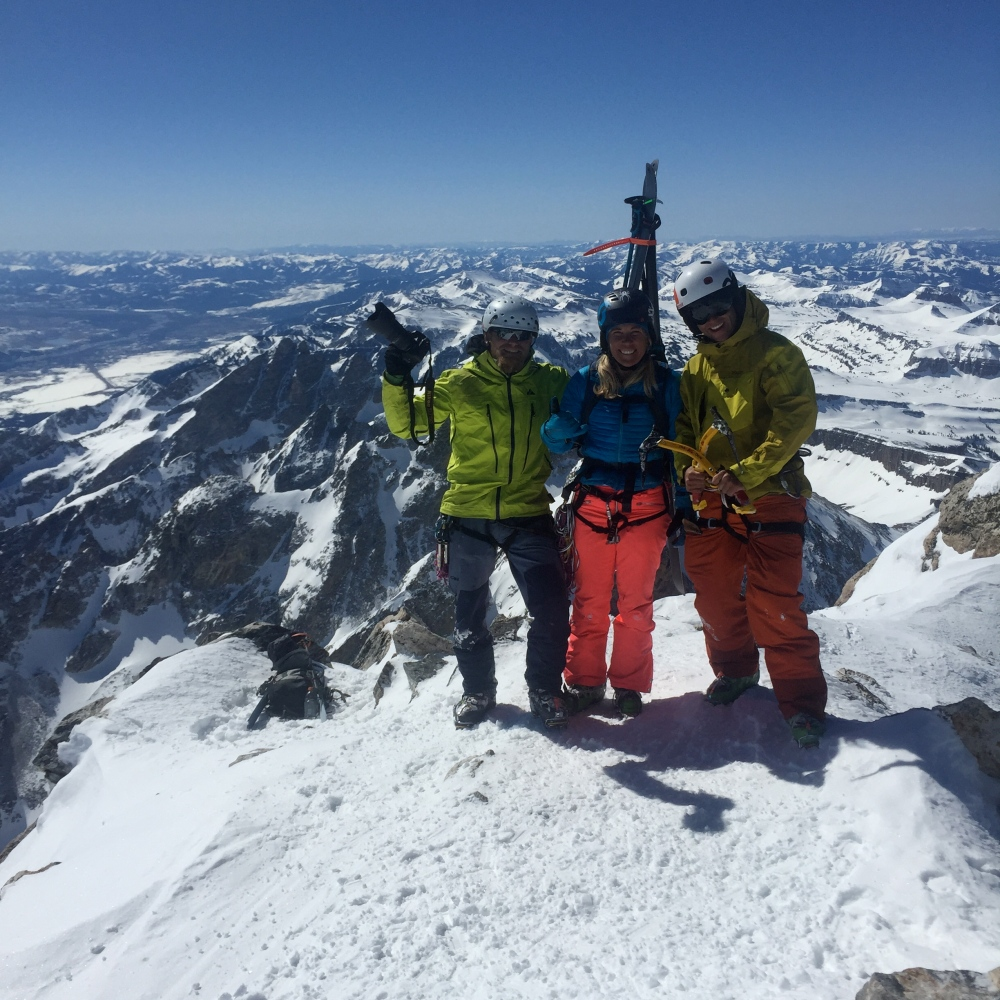 Summit of the Grand Teton wit Fredrick Marmsater and Tanner Flanagan.